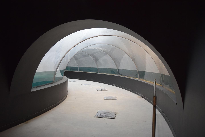 Vue intérieur tunnel : remplissage final : 03.10.17