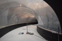 Vue intérieur tunnel : remplissage final : 02.10.17