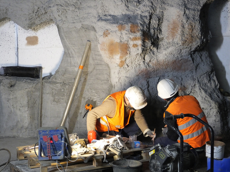 construction d'une grotte - mars 2017